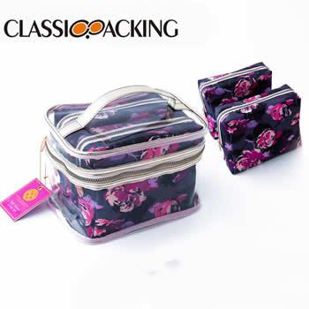 Clear Makeup Bag Set