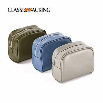 Leather Travel Makeup Bag