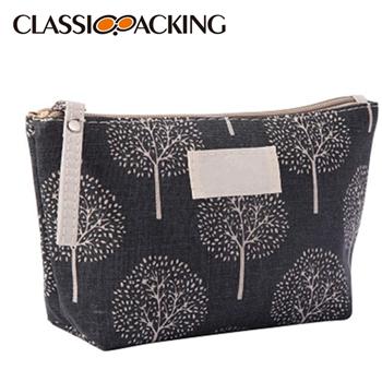 Canvas Custom Printed Cosmetic Bag