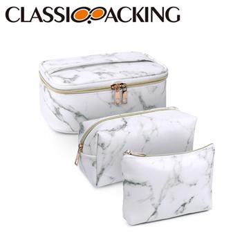 Marble Makeup Bag Set