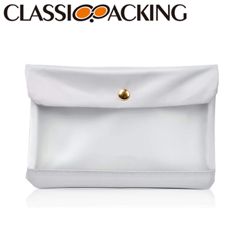 Trendy White Promotional Cosmetic Bags