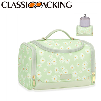 Flower Print Cosmetic Case