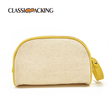 Canvas Recycled Cosmetic Bag For Travel