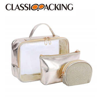 Clear Cosmetic Toiletry Bag Set