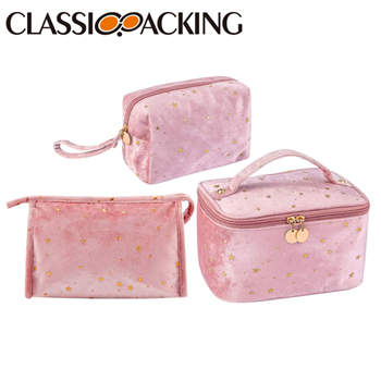3 Piece Makeup Bag Set