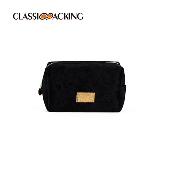 Large Capacity Flannel Cosmetic Bag
