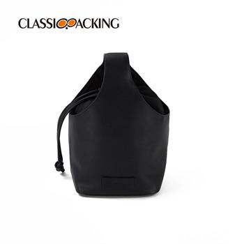Bucket Drawstring Bag With Handle