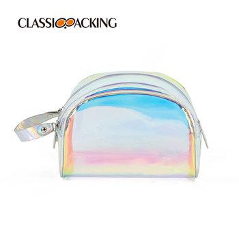 Wholesale Semicircle Iridescent Makeup Bag