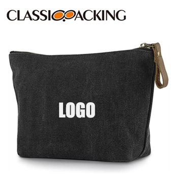 Canvas Custom Cosmetic Bags For Travel