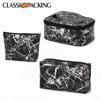 Black Marble Cosmetic Bag