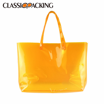 Clear Jelly Shoulder Transparent Tote Bag