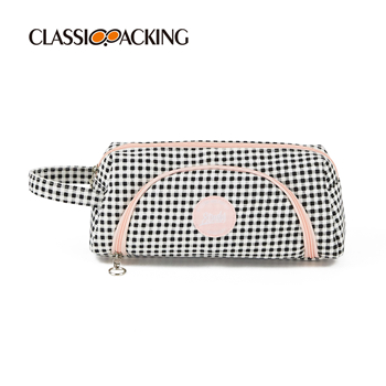 Printed Canvas Cosmetic Bag With Handle