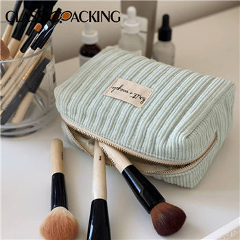 Quilted Corduroy Makeup Bag