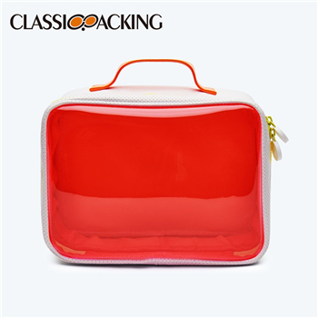 Eye Catching Color Contrast Travel Bulk Clear Makeup Bags