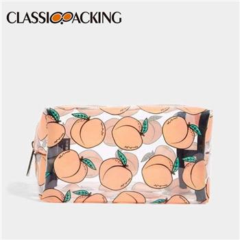 Peachy Clear Custom Logo Makeup Bags Bulk