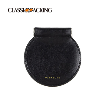 Round Leather Squeeze Bulk Coin Purse