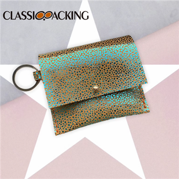 Colorful Key Chain Leather Coin Purse