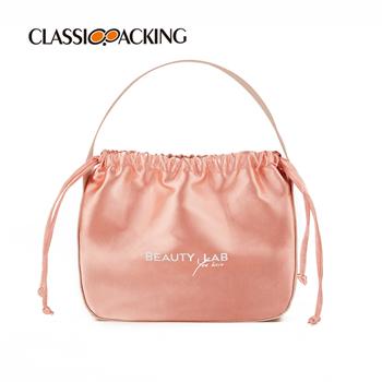 Drawstring Satin Cosmetic Bag