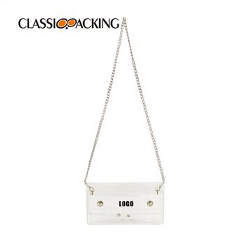 Metal Chain Cross Body Custom Makeup Bags