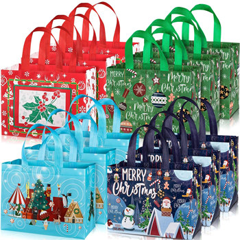 Christmas Non-woven Wholesale Shopping Bags with Handles