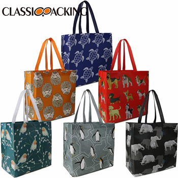 Recycling Shopping Totes with Long Handle