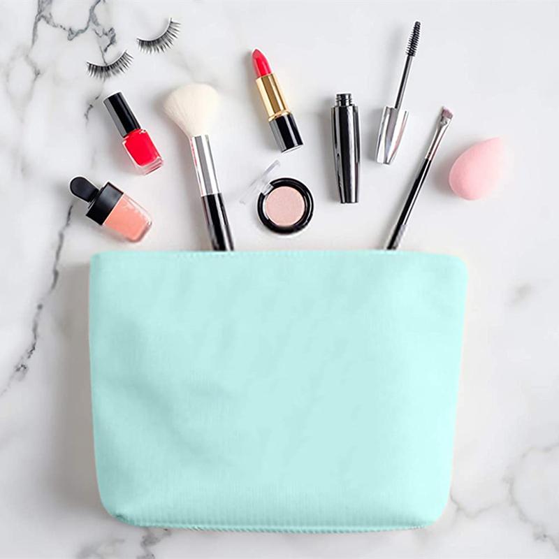 blank canvas cosmetic bag