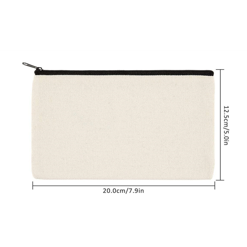 best custom canvas cosmetic pouch