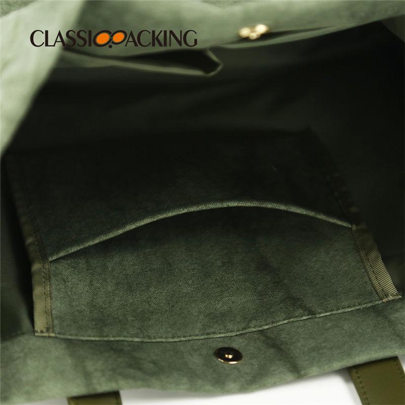 tote bag with shoulder-length straps