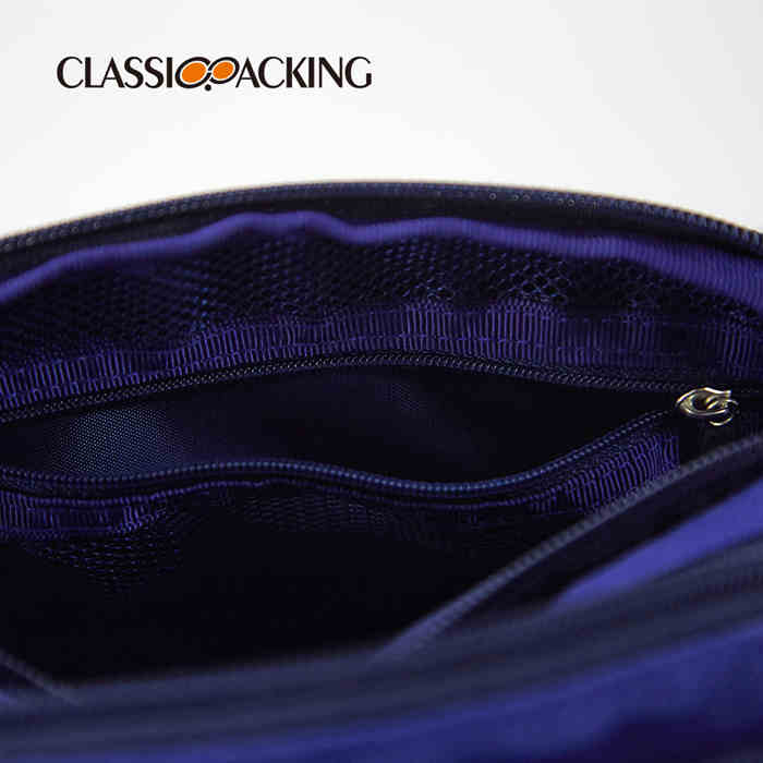 with 3 Separate Zipper Compartments