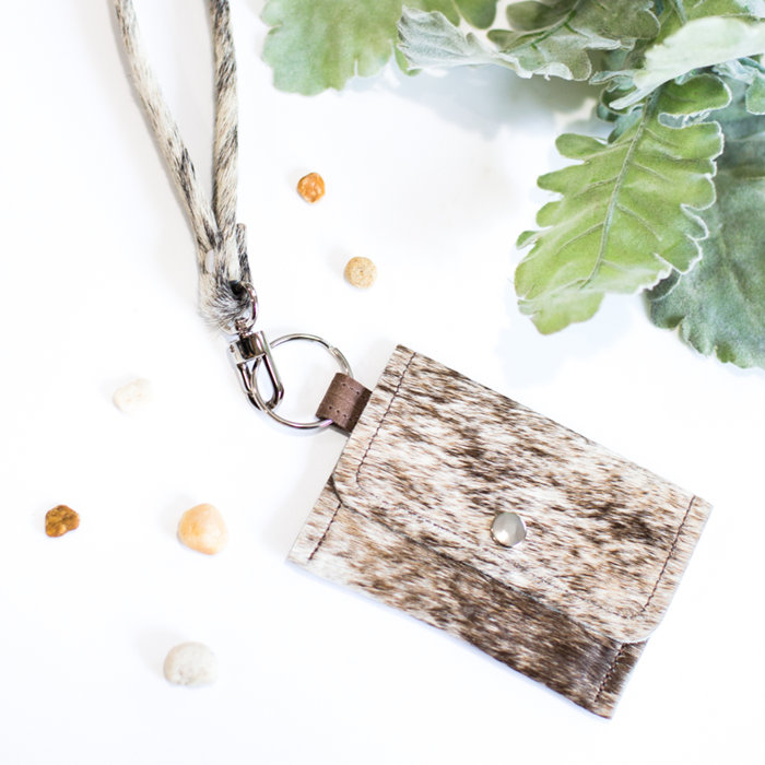 Leopard Print with Durable Split Key Ring