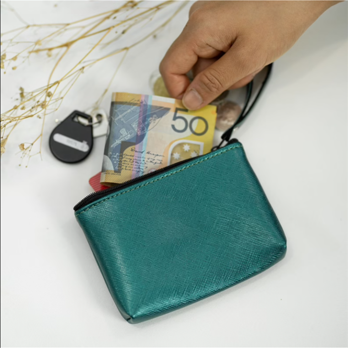 Monogrammed Coin Pouch