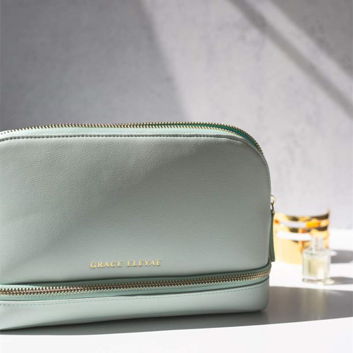 Vegan Leather Cosmetic Bag